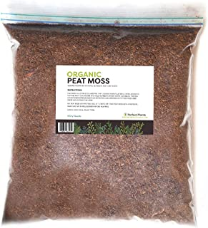 Organic Sphagnum Peat Moss by Perfect Plants - 4 Dry Quarts Absorbs Essential Nutrients When Added to Soil and Enriches Plant Roots - Indoor and Outdoor Use
