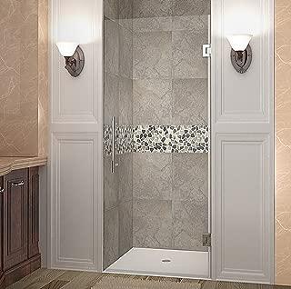 Aston Cascadia Completely Frameless Hinged Shower Door, 24