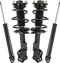 TRQ Front Complete Strut Spring Assembly & Rear Shock Absorber 4 Piece Kit Set for 2012-2014 Hyundai Sonata 2.4L excluding Hybrid Models and excluding models with Sport Suspension