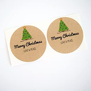 Christmas Tree Mason Jar Labels, Gift Labels for Canning Lids, Christmas Gifts in a Jar Labels, 2 Inches Size Fits Regular...