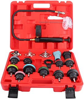 Testador de pressão de radiador, kit de teste de pressão de arrefecimento universal, 18 peças, detector de vazamento de ta...