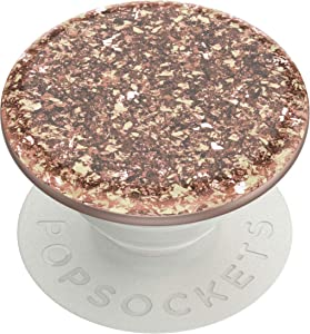 PopSockets: PopGrip with Swappable Top for Phones and Tablets - Foil Confetti Rose Gold