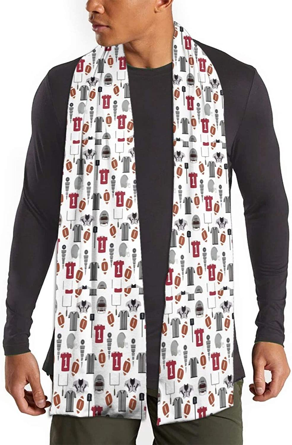 Womens Winter Scarf Football College Sports Fan Wraps Warm Pashmina Shawls Gift Reversible Soft For Girls