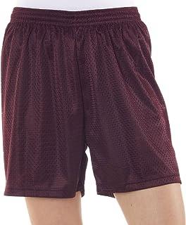 "Badger Ladies' Mesh/Tricot 5"" Shorts, Maroon, Medium"