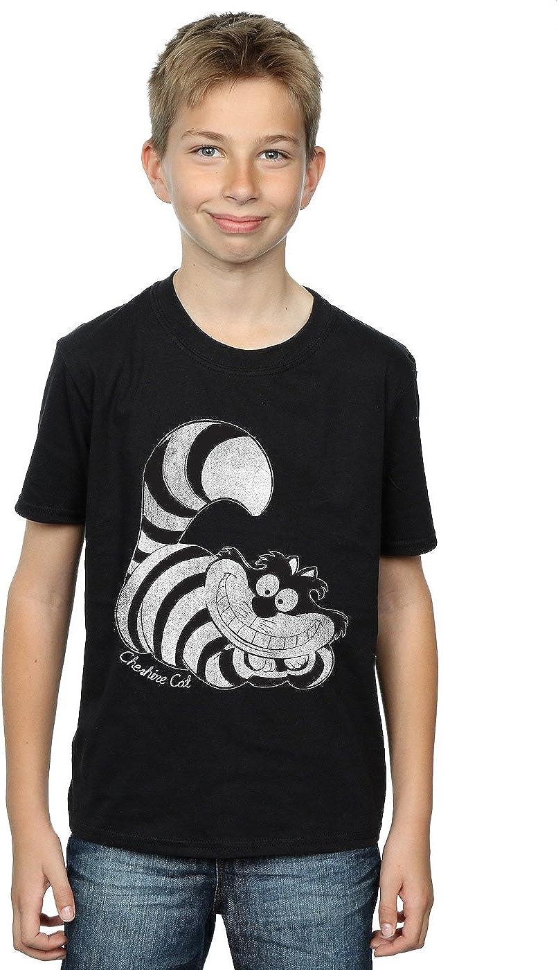 Disney Boys Alice in Wonderland Mono Cheshire Cat T-Shirt 7-8 Years Black