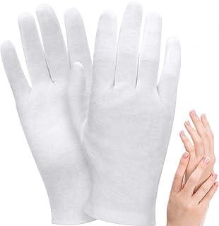Moisturizing Gloves, DELFINO Cotton Gloves, Soft Elastic Skincare Glove Working Gloves for Women Men Dry Hands Jewelry Ins...