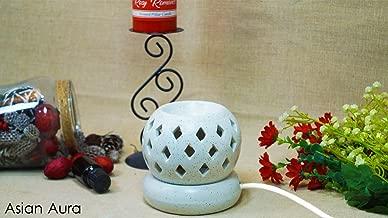 Asianaura Electric Aroma Diffuser Set Round Shape Burner (Fragrance: Rosy Romance, English Lavender).