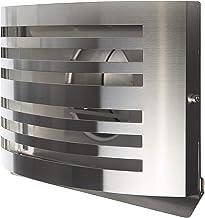Design uitlaatrooster met geïsoleerde schokklep/roestvrij staal 304 - V2A geborsteld (DN 150/150mm)