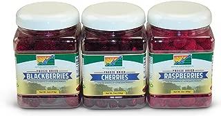 Mother Earth Products Freeze Dried Dark Fruit Value Medley: Raspberries, Blackberries, and Cherries Quart Jars