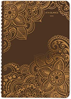"""AT-A-GLANCE 2020 Weekly & Monthly Planner, 5-1/2"""" x 8-1/2"""", Small, Henna (551-200)"""