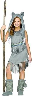 Fun World 124582M Little Girl's Med/Wolf Dancer Children's Costume, Medium, Multicolor
