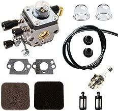 Podoy FS85 Carburetor for STIHL C1Q-S97 Gasket Kit with Air Fuel Filer Spark Plug Fuel Line &Grommet FS80 FS80R FS85R FS85T FS85RX String Trimmer