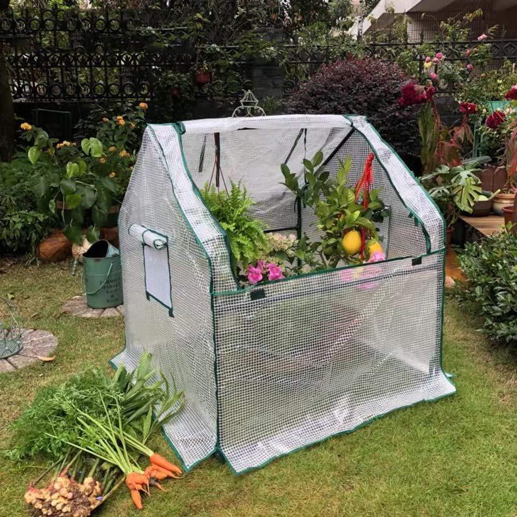 XY&CF-Flower house Planta de Invernadero Mini PE Tela de Malla de Acero Inoxidable Soporte Invernadero jardín (90 * 90 * 90 cm): Amazon.es: Hogar