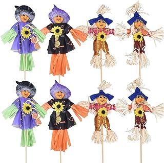 AOFOX 8 pièces Halloween décoration d'épouvantail de récolte d'automne, décoration d'épouvantail de Action de grâces décor...