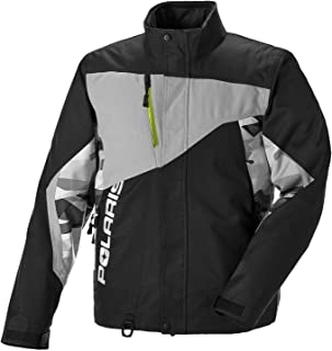 Polaris New Men's Throttle Snowmobile Jacket, Black/Lime, X-Large, 286850309