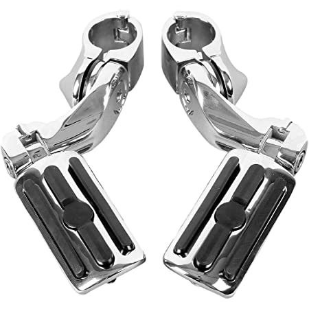 Street Glide Electra Glide Road King Compatible with//Replacement for Harley Davidson Road Glide Top Quality Long Highway Pegs Foot Rests for 1.25 Engine Guard Hoosier Garage
