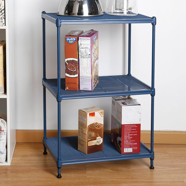 Kitchen Shelf Bedroom Living Room Bathroom Metal Floorstanding Storage Racks (color   bluee)