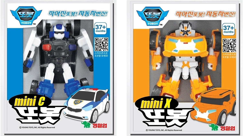 Young Corp Tobot C Mini + X Mini Transformer Korean Animation Robot Character