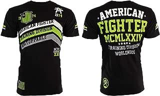 Mens T-Shirt Corner Athletic Black Green Biker Gym MMA UFC