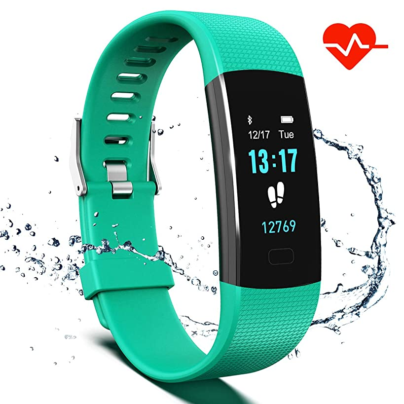 Saikee Fitness Tracker, Activity Tracker Watch with Heart Rate Monitor, Sleep Monitor, Step Counter Fitness Watch IP67 Waterproof Pedometer, Compatible with iPhone & Android