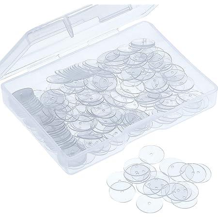 Almohadillas de Disco Transparentes para Estabilizar Aretes, Discos de Plástico para Espaldas de Pendiente