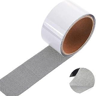 comprar comparacion Cinta para reparar mosquiteras Fibra de vidrio Cinta adhesiva para ventanas de insectos, 5 cm x 200 cm (gris)