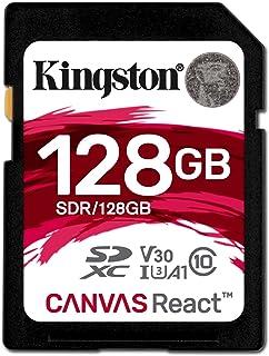 キングストン Kingston SDXCカード 128GB クラス10 UHS-I U3 V30 A1 対応 Canvas React SDR/128GB 永久保証
