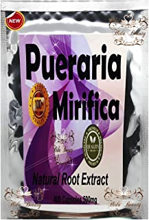 Premium 400 Capsules 500mg Pueraria Mirifica Powder Natural Herbal Grown in Thailand