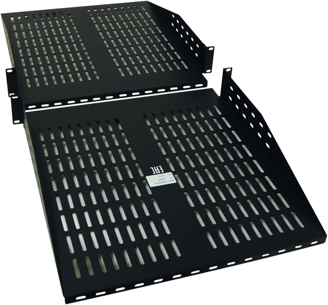 Tripp Lite Rack Cantilever Fixed Shelf 2-Post 4-Post Compatible 2URM Components SRSHELF2PX2, Black