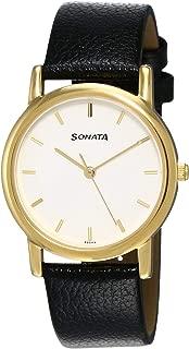Sonata Analog White Dial Men's Watch -NJ7987YL02W