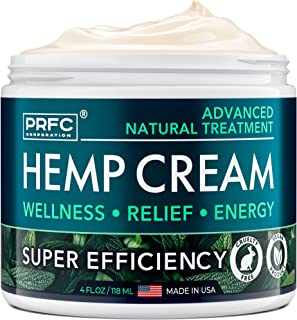 Hemp Pain Relief Cream 60,000 Mg - Natural Hemp Extract Cream for Arthritis, Back Pain & Muscle Pain Relief - Efficient In...