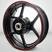 Thin Outer Rim Liner Stripe for Ducati 848 EVO Gloss Red