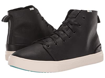 TOMS TRVL LITE High (Black Pebbled Leather) Men
