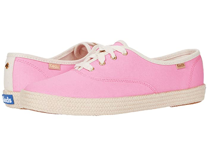 Vintage Sneakers, Retro Designs for Women Keds x kate spade new york Champion Neon Canvas Pink Canvas Womens Shoes $60.77 AT vintagedancer.com