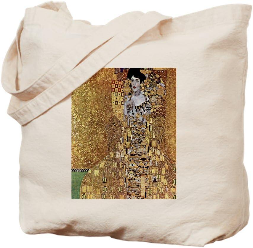 CafePress Adele Gustav Klimt Tote Bag Natural Canvas Tote Bag, Reusable Shopping Bag