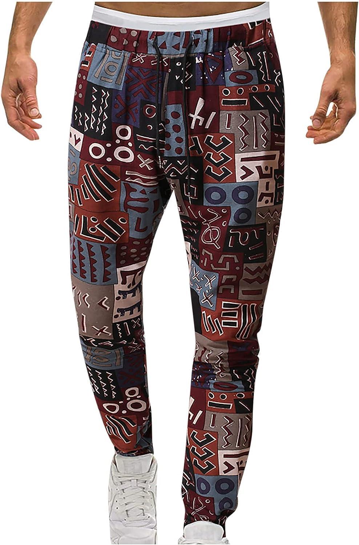 QTOCIO Yoga Pants depot Men Linen Elastic Drawstrin New York Mall Loose Casual