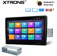 XTRONS Android 8.1 Oreo Octa Core 10.1 Inch 2GB DDR3 RAM 32GB ROM Rotatable Face Panel Car Stereo Radio GPS 4K Video WiFi OBD2 Screen Mirroring DVR