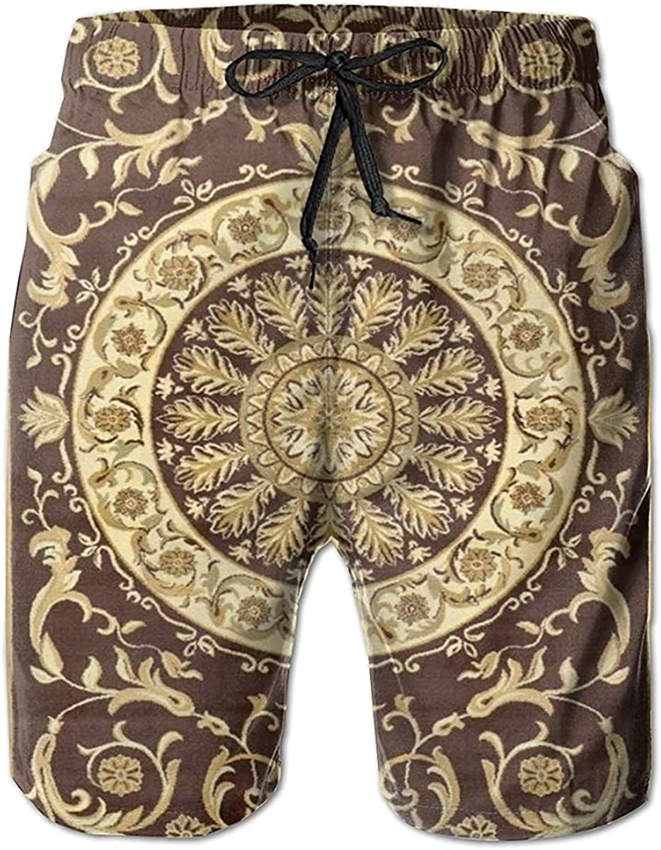 NIUZOOM Palace Rug Men's Quick Dry Swim Trunks with Pockets Beach Board Shorts Bathing Suits
