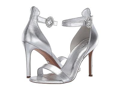 MICHAEL Michael Kors Viola Sandal (Silver Metallic Nappa) Women