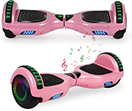 "YHR Hoverboard 6.5"" Two-Wheel Self Balancing Hover Board with Bluetooth Speaker and LED Lights Hoverboard for Kids and Adults"