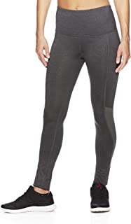 Reebok Women's High Rise Workout Leggings - High Waisted Yoga & Fitness Athletic Compression Pants