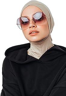 سماعات رأس وجيل حجاب، قبعة أنبوبية من القطن، جاهزة لارتداء إكسسوارات المسلمين للنساء