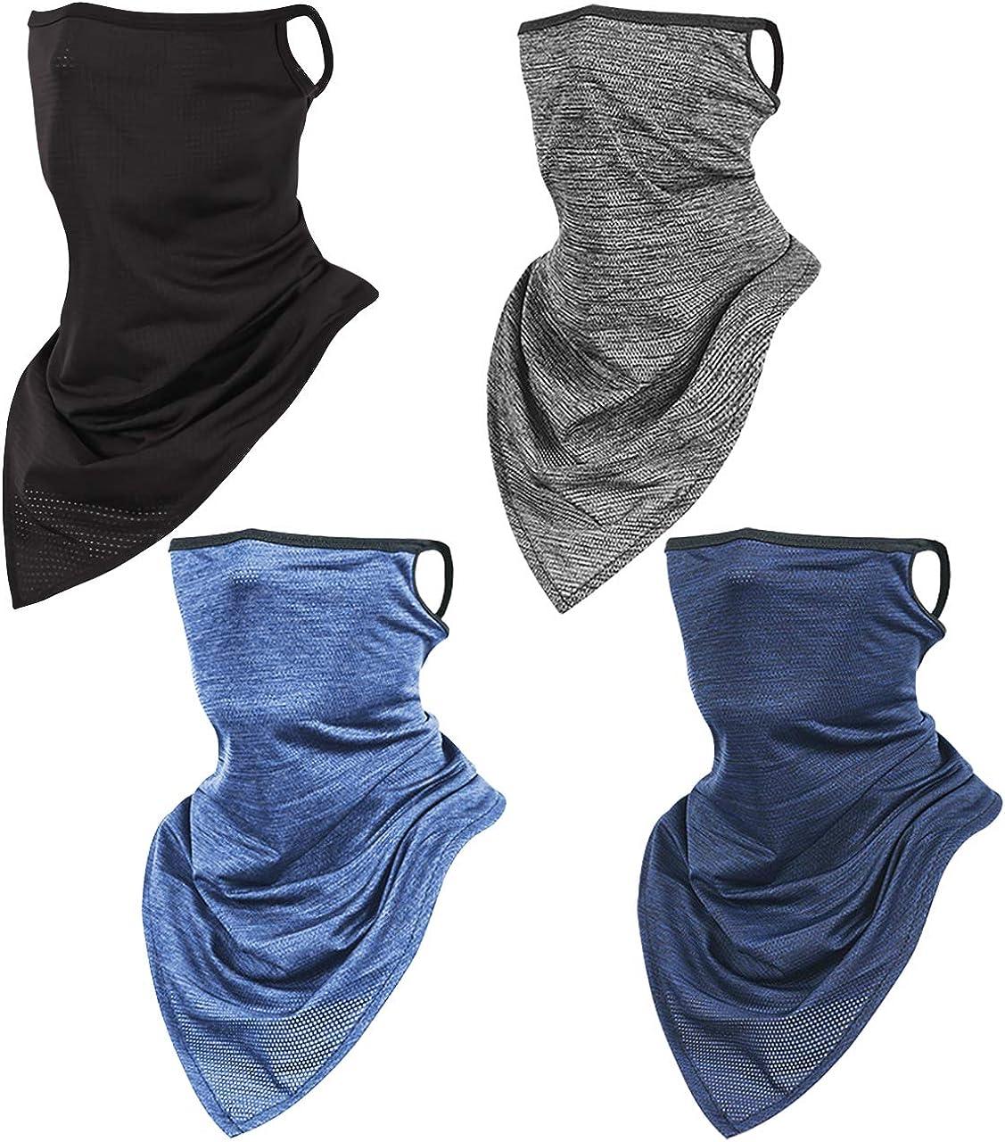 Unisex Sun Scarf UV Protection Bandana Neck Gaiter, Reusable Face Cover Balaclava