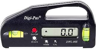 DigiPas DWL80E Pocket Size Digital Level, Electronic Angle Gauge, Protractor, Angle Finder, Bevel Gauge, 0.1°, 4 inch