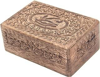 Egyptian Eye of Horus Hand Carved Jewelry Trinket Keepsake Wooden Storage Box (Medium)