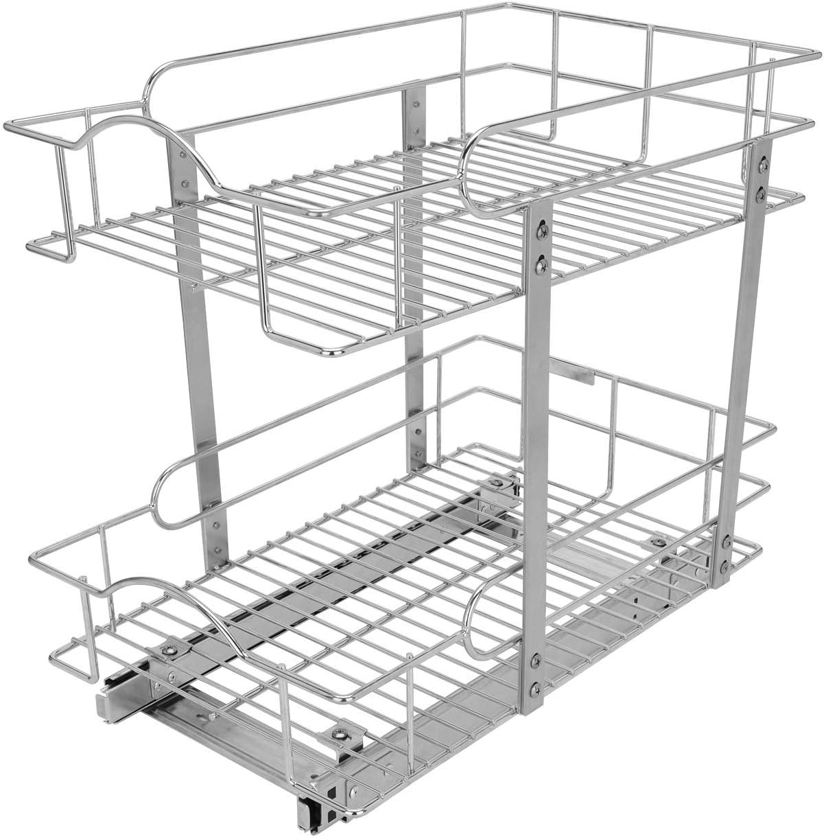 MorNon Slide Out Cabinet Organizer Pull Kitchen Cabi Sliding 正規取扱店 1年保証