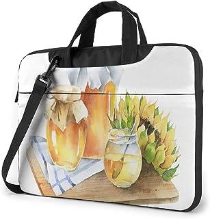 "Jars of Honey and Sunflower On Wooden Board Laptop Bag Protective Case Computer Messenger Briefcase Women Men 13"""