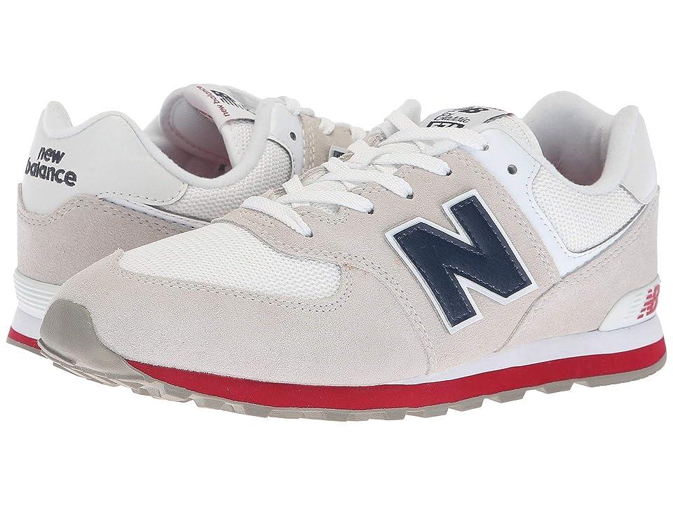 New Balance Kids GC574v1 (Big Kid) (Nimbus Cloud/Navy) Kids Shoes
