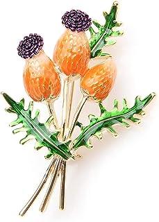 OrangeTulip Bouquet Fiori Spille smaltate Matrimoni in metallo Spille per banchetti Spille per donne e uomini Regalo di Na...