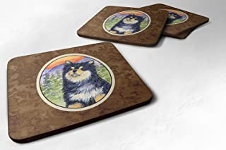 "Caroline's Treasures SS1057FC Finnish Lapphund Foam Coasters (Set of 4), 3.5"" H x 3.5"" W, Multicolor"